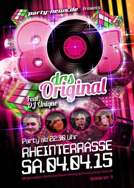 80er Party – Sa.4.4.15 – Rheinterrasse – Konstanz