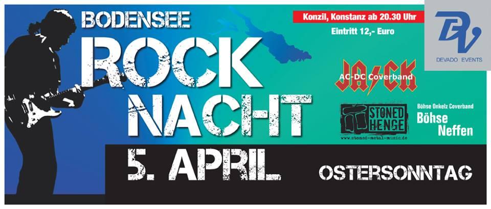 Bodensee Rock Nacht im Konzil in Konstanz – So. 5.4.15