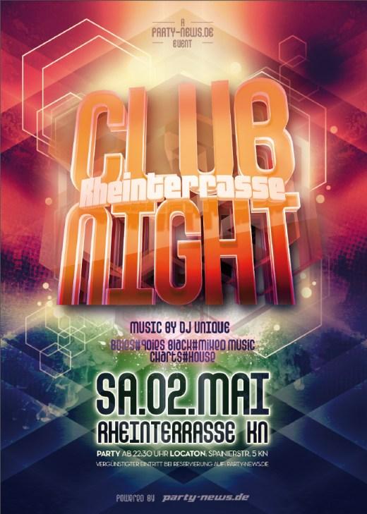 Rheinterrasse CLUB NIGHT – Sa.2.5.15 – Rheinterrasse – Konstanz