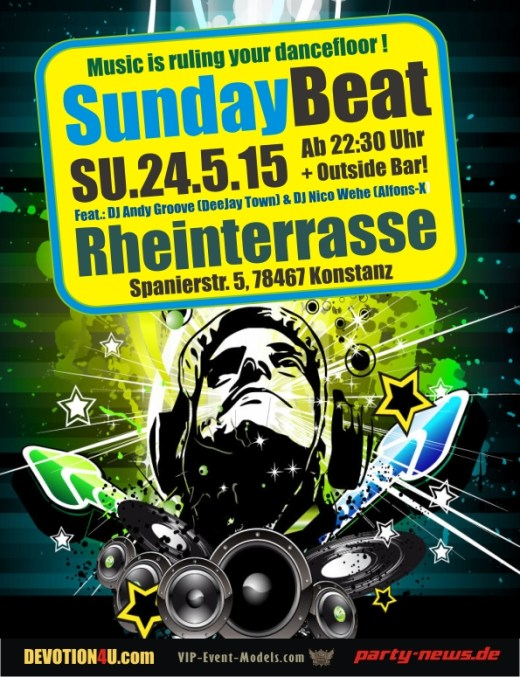 The Sunday Beat @ Rheinterrasse. So. 24.5.15