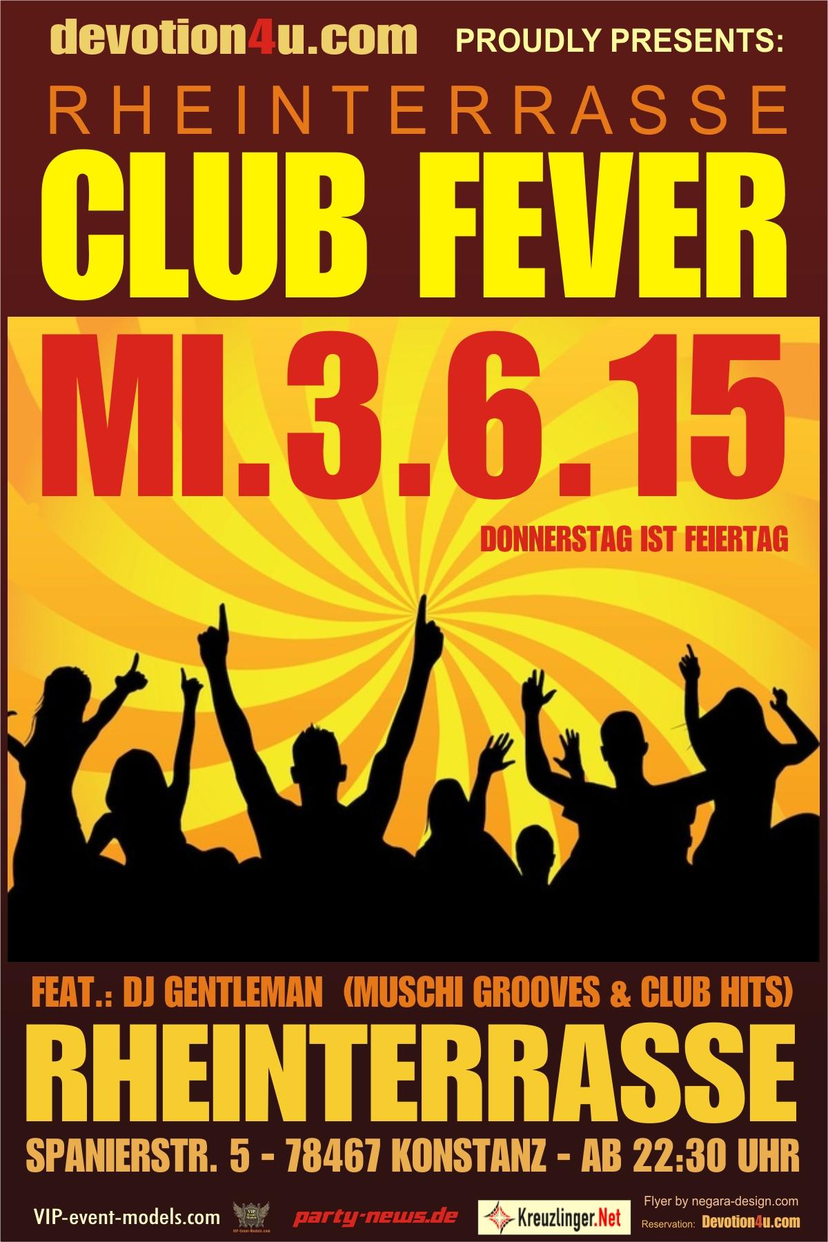 Club Fever – Mi. 3.6.15 – Rheinterrasse – Konstanz