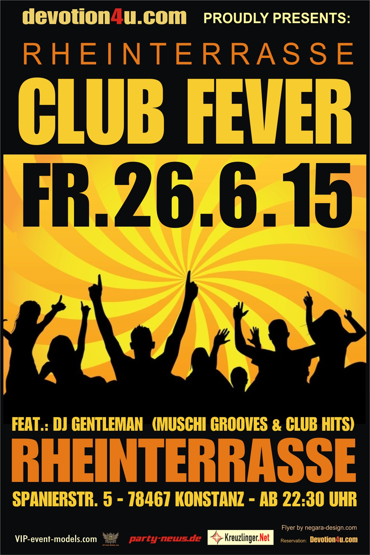 Club Fever – Fr. 26.6.15 – Rheinterrasse – Konstanz