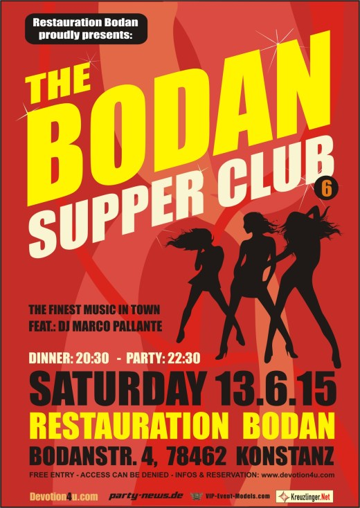 Bodan Supper Club – Sa. 13.6.15 – Bodan – Konstanz