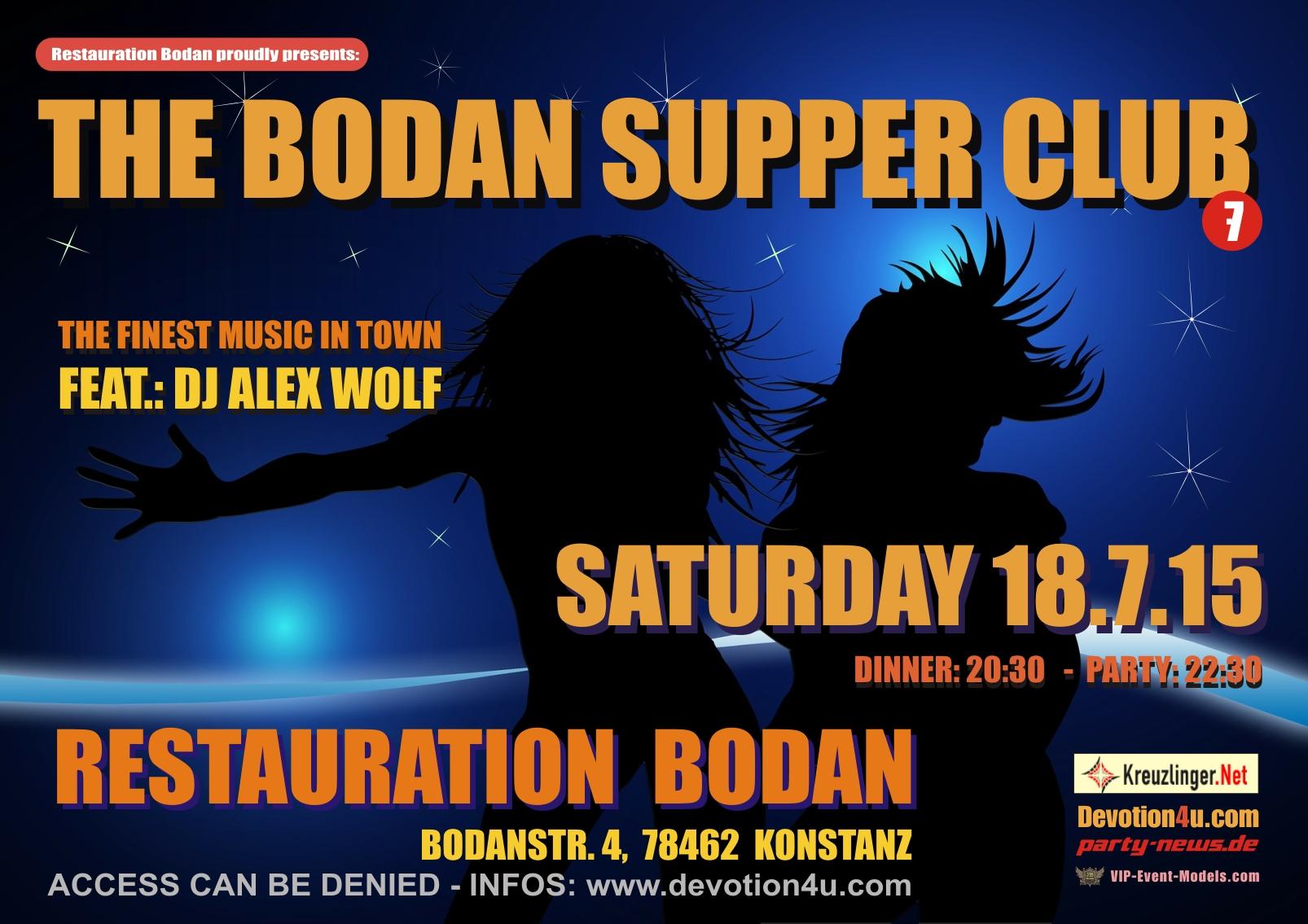 Bodan Supper Club – Sa.18.7.15 – Bodan – Konstanz
