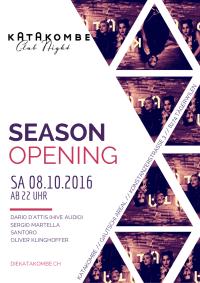 Katakombe Season Opening – SA 08.10.2016