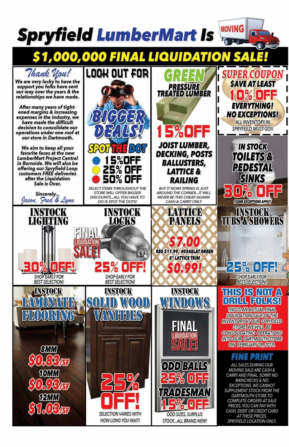 Liquidation World Flyer Timber Mart Flyers