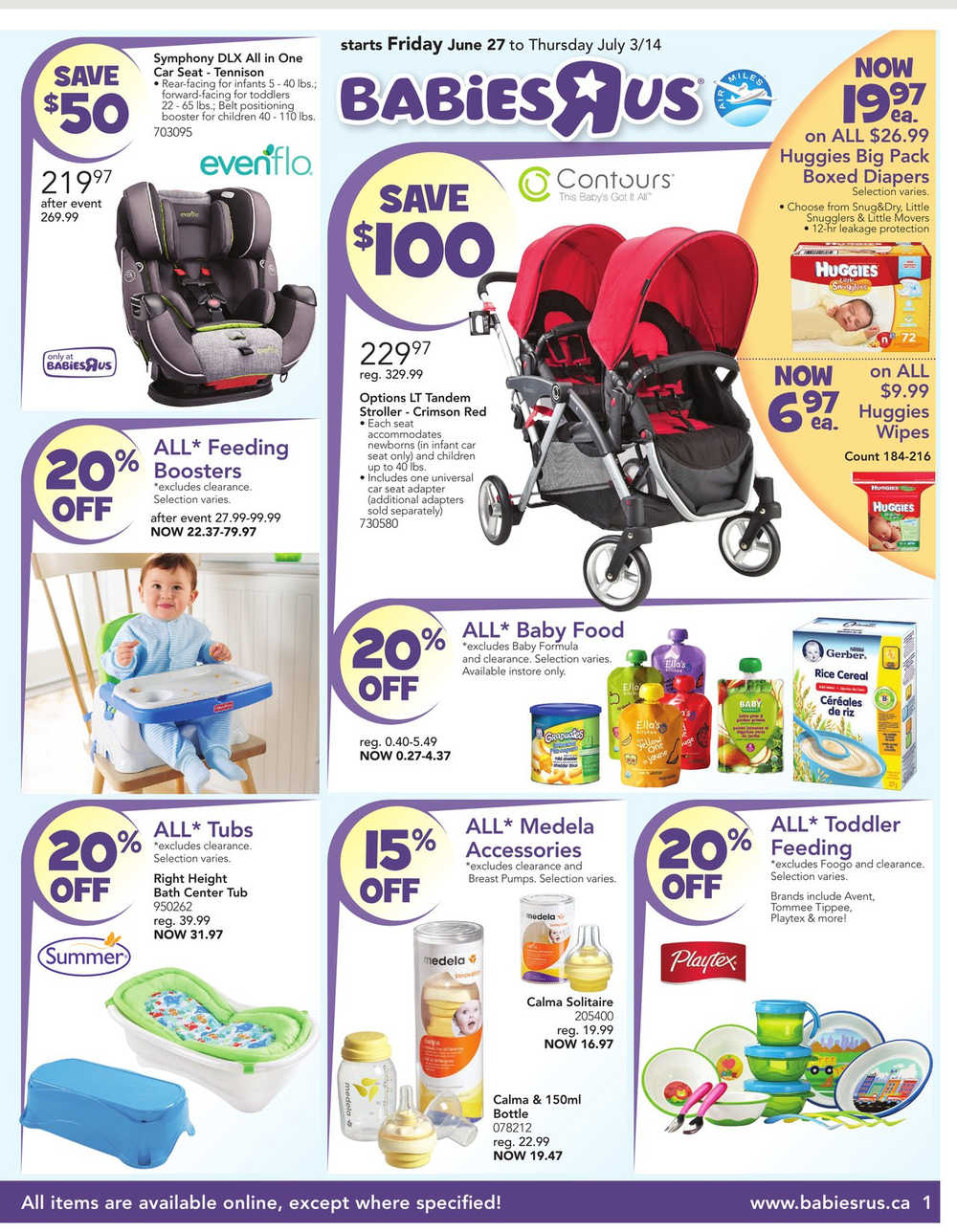 babies r us canada high chair swivel that locks small house interior design toys flyer june 27 to july 3