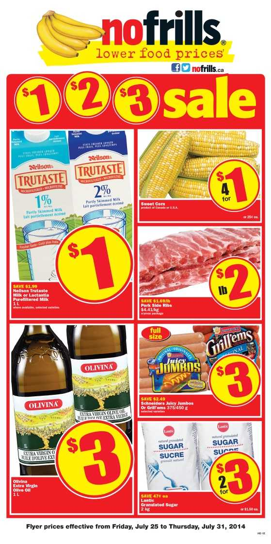 No Frills ON flyer July 25 to July 31 Canada