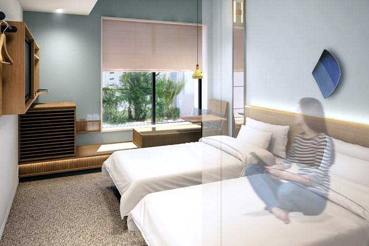 東京濱町酒店 雙床房