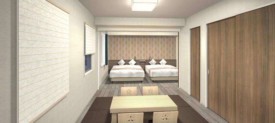道頓堀SARASA酒店 和洋室