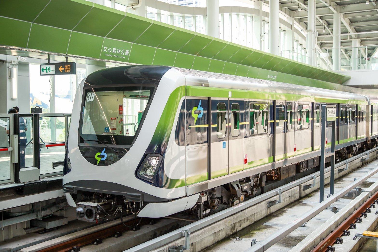台中捷運綠線 - 列車(圖片來源:台中市政府交通局)