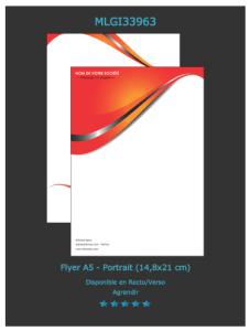 Un des modèles de flyer au format A5 personnalisable sur notre site d'imprimeur en ligne. Découvrez les autres modèles.