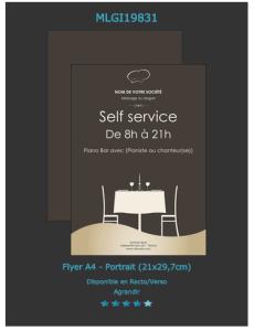 Exemplaire de flyer ouverture de restaurant à personnaliser sur notre site en ligne.