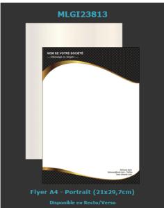 Un des modèles de flyers que vous pouvez choisir et personnaliser pour votre entreprise.