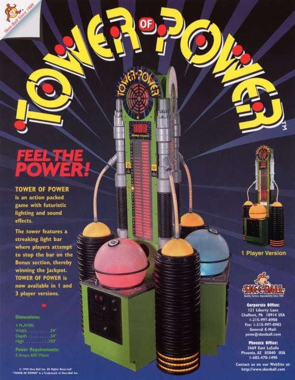 The Arcade Flyer Archive Arcade Game Flyers Tower of