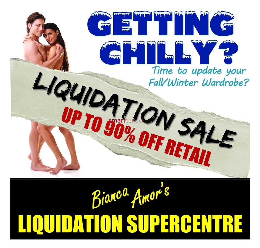Liquidation World Flyer Bianca Amor Canada Flyers