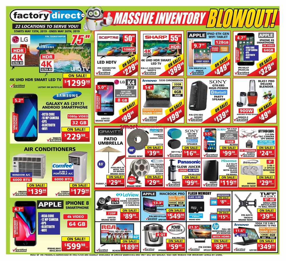 Liquidation World Flyer Factorydirect Ca Canada Flyers
