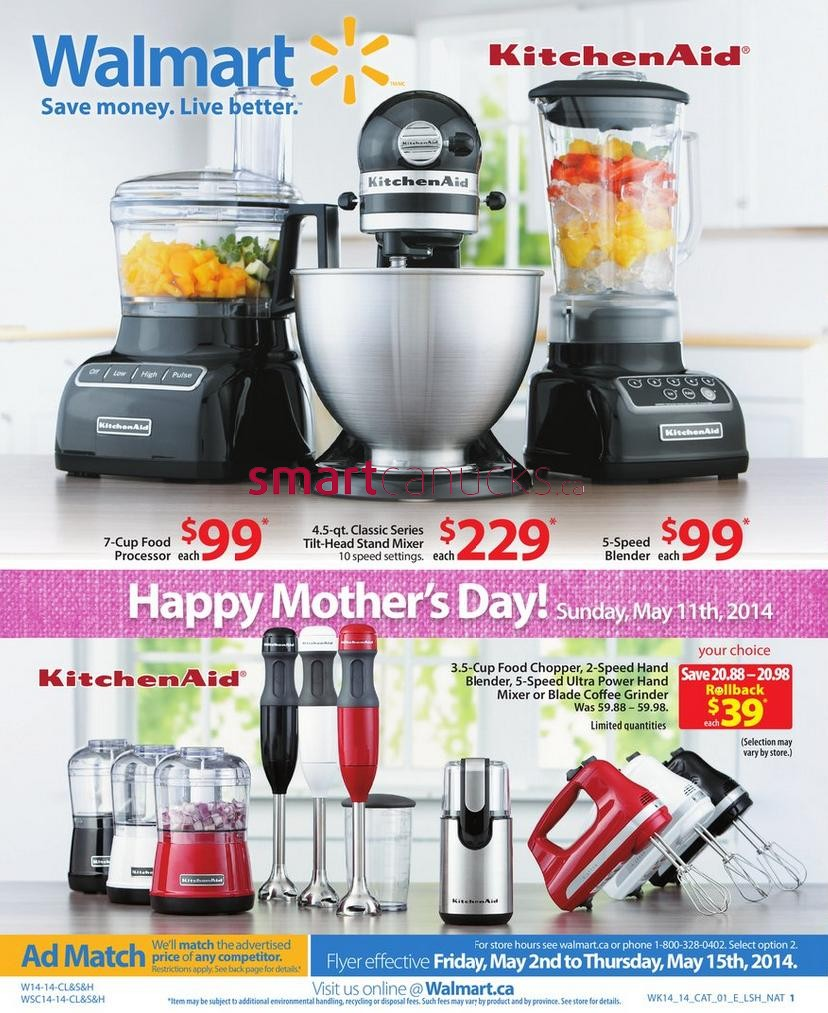 Walmart Canada Kitchen Appliance Catalogue Flyers Friday