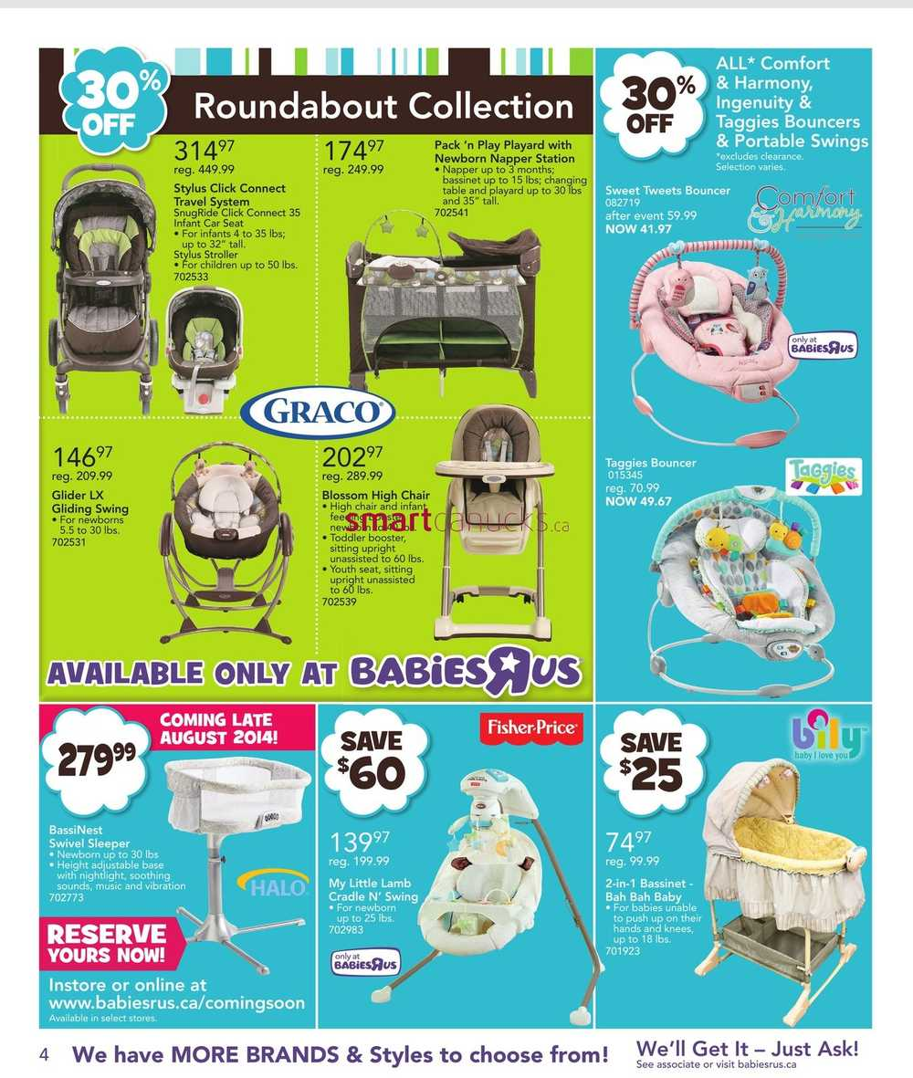 babies r us canada high chair bamboo repair toys flyer july 4 to 17