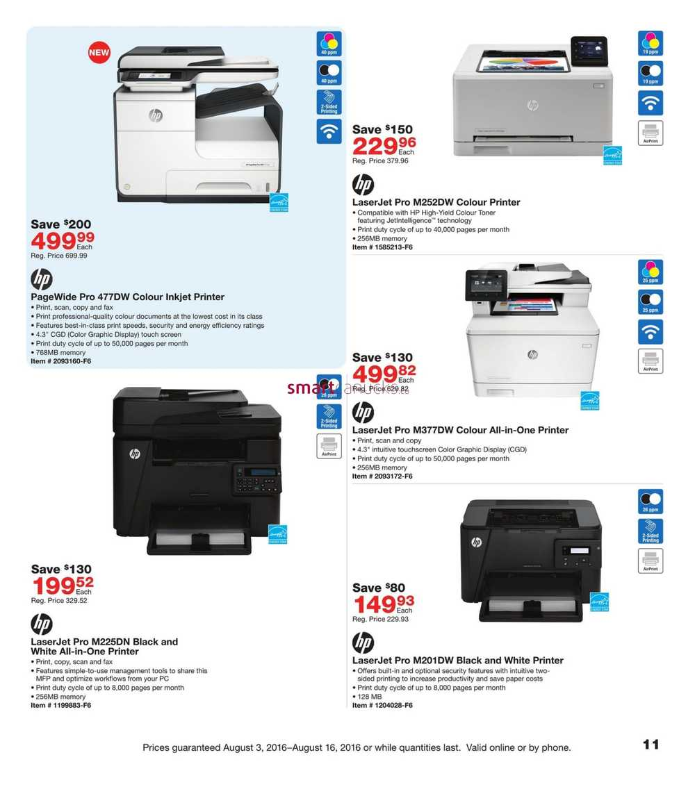 Color Printing Services At Staples Flyer August To