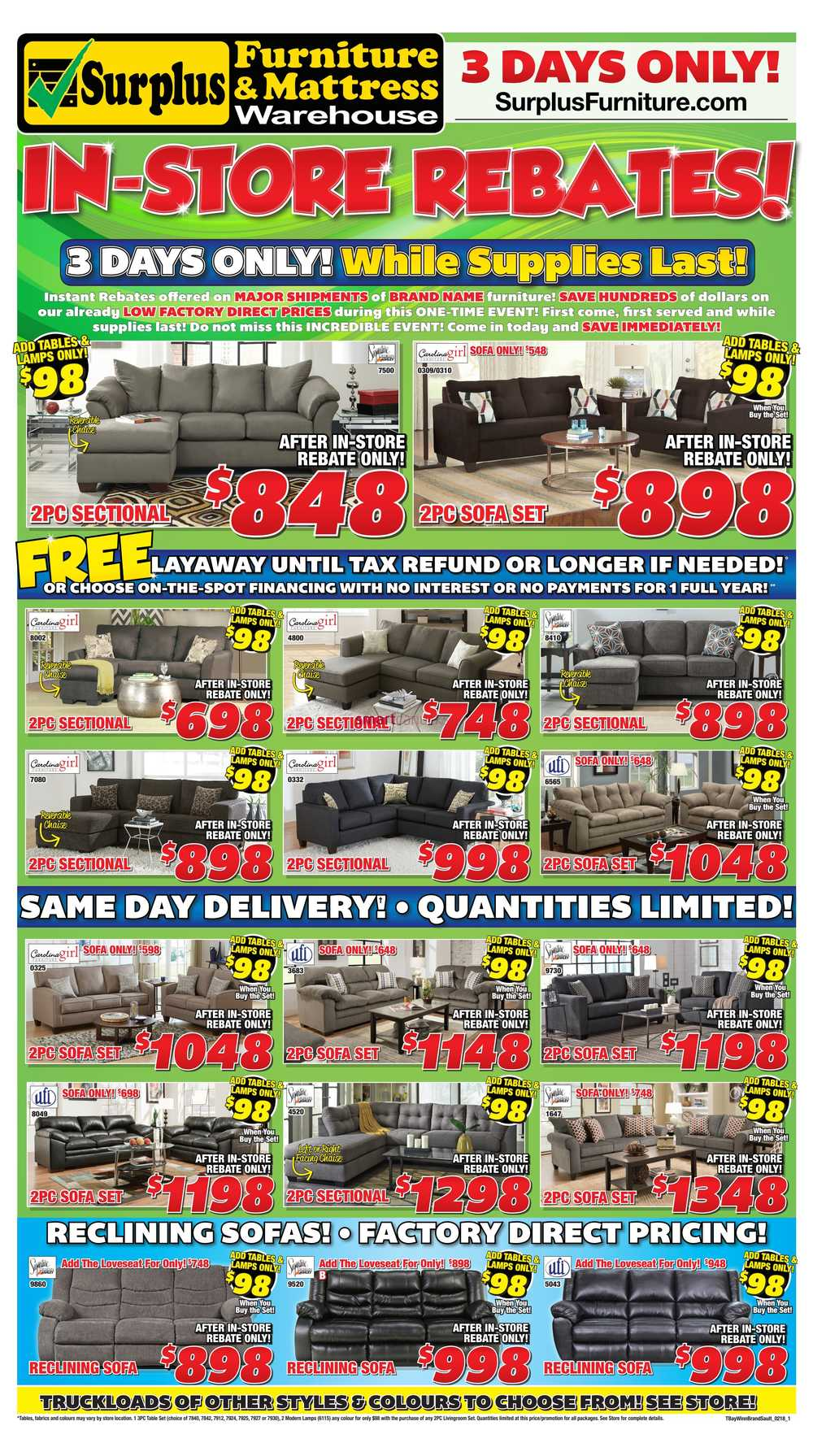 Furniture Warehouse Thunder Bay