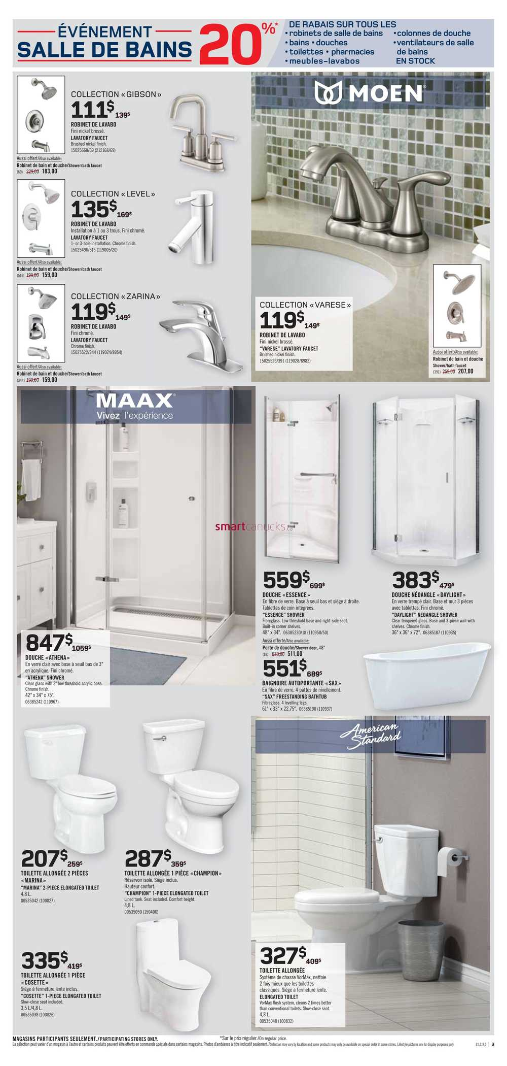 Lavabo Salle De Bain Rona Rona Qc Flyer March 1 To 7