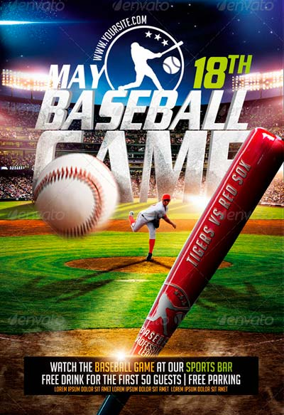 Best Baseball Sports Flyer Templates No1