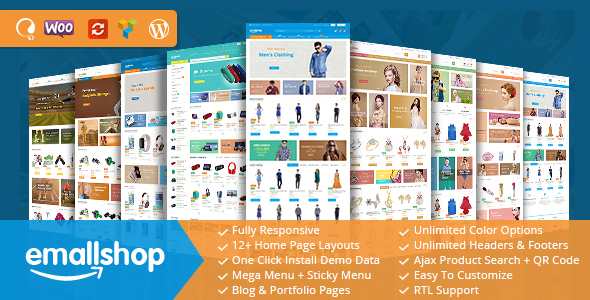 EmallShop – Responsive WooCommerce WordPress Theme – WP Theme Download