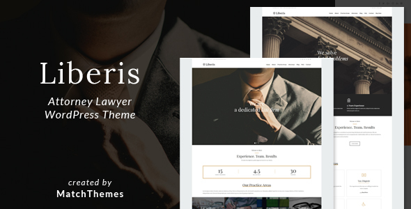 Liberis – Approved educated Attorney WordPress Theme – WP Theme Download