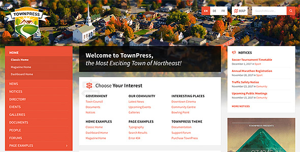 TownPress – Municipality WordPress Theme – WP Theme Download