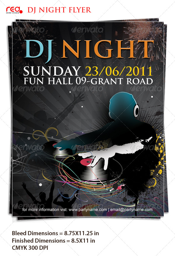 Aesthetic Dj Evening Poster/Flyer Template – Download