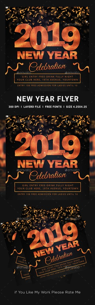 Flyers PSD – Contemporary Yr 2019 Flyer – Download