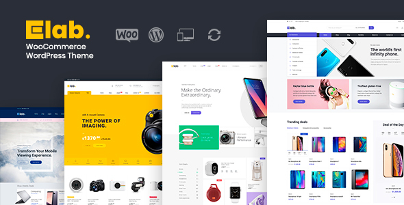 eLab – WooCommerce WordPress Store Theme – WP Theme Download