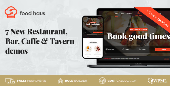 Food Haus – Restaurant & Bistro – WP Theme Download