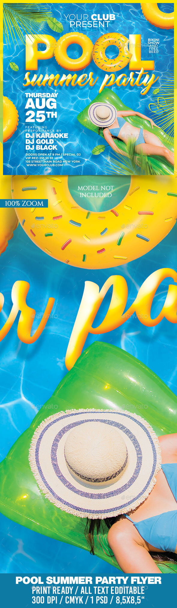 Flyers PSD – Pool Summer season Birthday celebration – Download