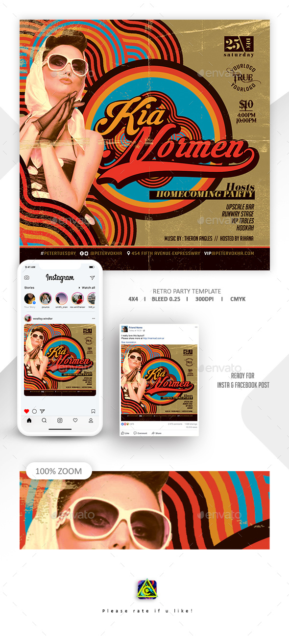 Flyers PSD – Retro Occasion Flyer – Download
