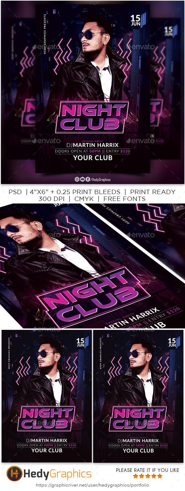 Flyers PSD – Night Membership Flyer – Download