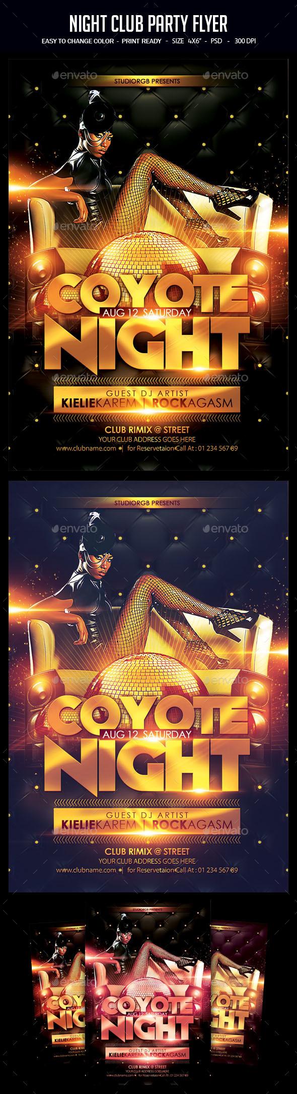 Flyers PSD – Night Membership Celebration Flyer – Download