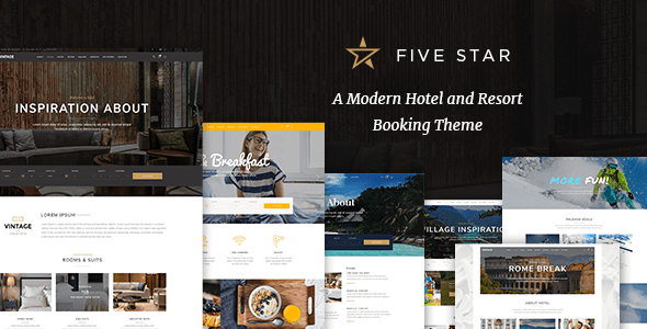FiveStar – Hotel Booking Theme – WP Theme Download