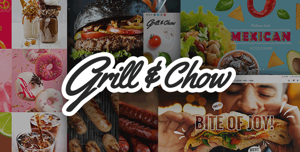 Grill and Chow – Like a flash Meals & Pizza Theme  – WP Theme Download