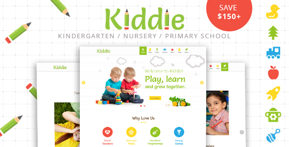Kiddie – Kindergarten WordPress Theme – WP Theme Download