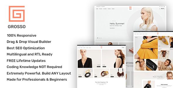 Grosso – Recent WooCommerce theme for the Vogue Change  – WP Theme Download