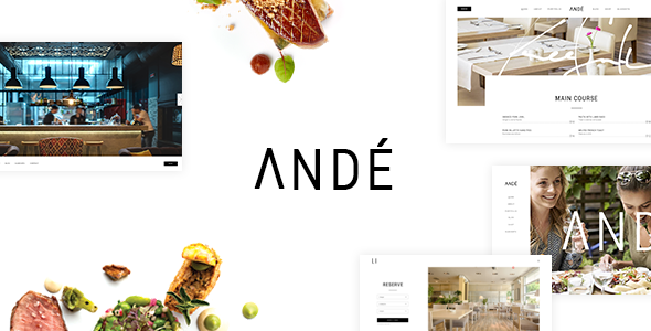 Andé – Natty Restaurant Theme – WP Theme Download