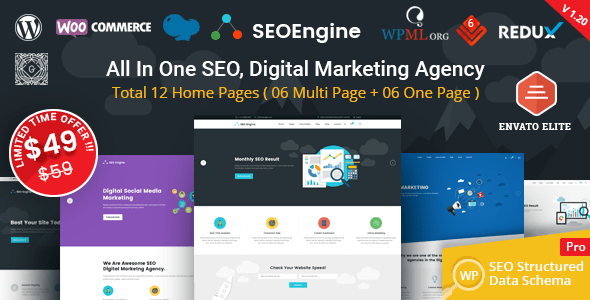 SEO Engine – Digital Marketing and marketing Agency WordPress Theme – WP Theme Download