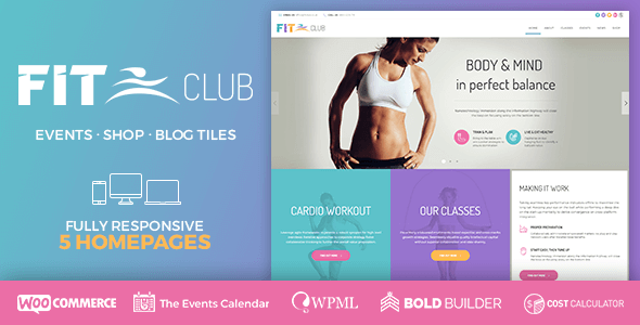 Fitness Club – Correctly being & Health club – WP Theme Download