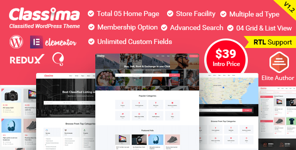 Classima – Classified Adverts WordPress Theme – WP Theme Download