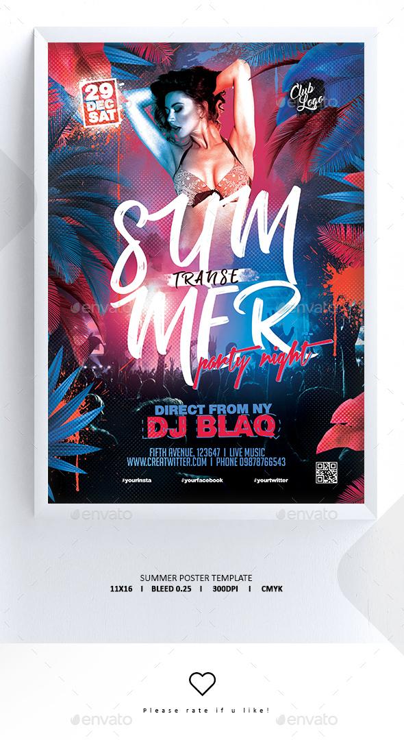 Flyers PSD – Summer Poster / Flyer – Download
