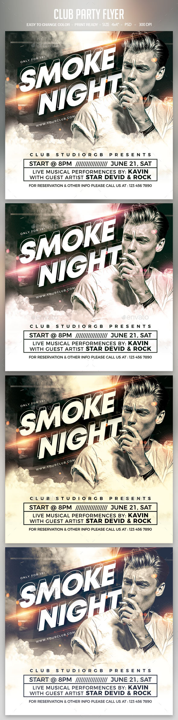 Flyers PSD – Club Party Flyer – Download