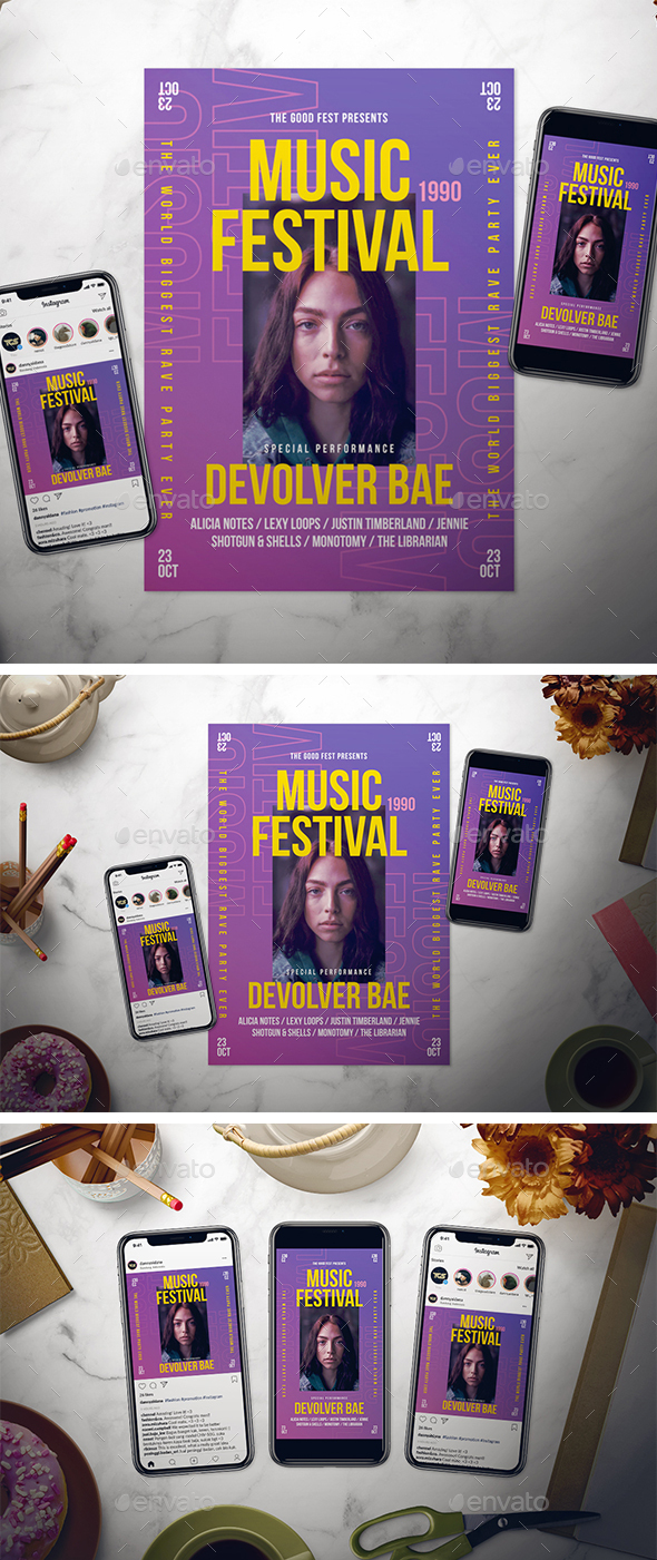 Flyers PSD – Music Festival Flyer Spot – Download