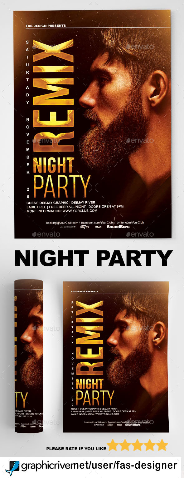 Flyers PSD – Night Membership Flyer – Download
